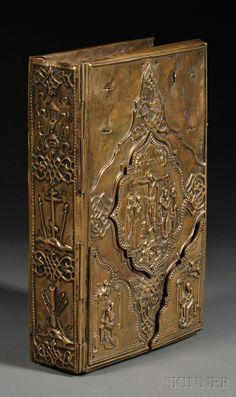 Cyrillic New Testament Gospels in Brass Binding