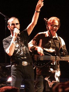 Ringo Starr and Richard Page at Horseshoe Casino 7/8/12 (Photo by Peter S. Sakas DVM)