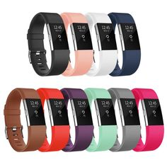Vancle Fitbit Charge 2 Bands, Classic Edition Adjustable Comfortable Replacement Strap for Fit bit Charge 2 (No Tracker) (10-Pack, Small)