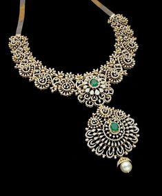 Dimond Necklace, Diamond Necklace Set, Diamond Pendant, Gold Necklace, India Jewelry, Jewelry Art, Gold Jewelry, Fashion Jewelry, Pink Diamond Jewelry