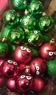 Angry Birds ornament! THOUGHT OF JACOB...LOL