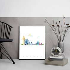 London City Poster Illustration Graphic Design Ready by MirDesigns