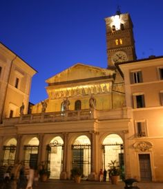 S. Maria in Trastevere, Rome.      My apartment was around the corner.