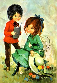 398 best postales images on pinterest big eyes vintage postcards cute love couple thecheapjerseys Choice Image
