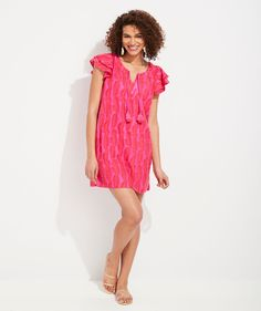Vineyard Vines Women, Double Ruffle, Palm, Cover Up, Dress Up, Short Sleeve Dresses, Tunic, Summer Dresses, My Style