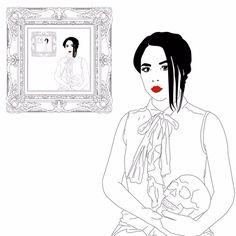 xavieralopez art black and white loop illustration