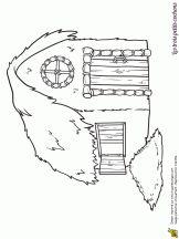 Coloriage histoire des 3 petits cochons sur Hugolescargot.com