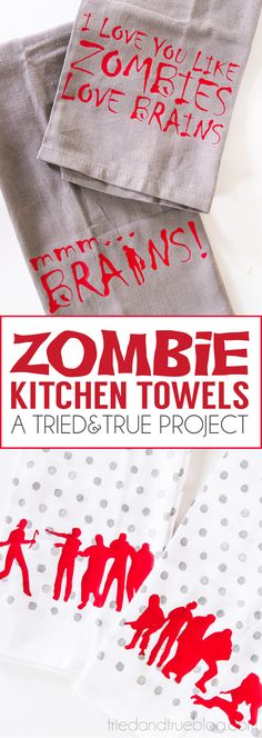 Four different Zombie Halloween Kitchen Towels designs for you to choose from… Halloween Kitchen, Cute Halloween, Holidays Halloween, Halloween Crafts, Halloween Zombie, Halloween Silhouettes, Free Silhouette, Silhouette Design, Zombie Party