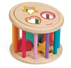Janod-Wooden Toys for Kids-Shape Sorter