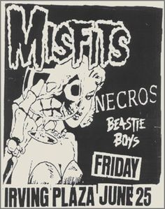The Misfits, Necros and The Beastie Boys | 35 Old Punk Flyers That Prove Punk Used To Be So Cool