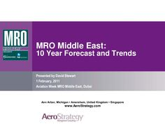 MRO Middle East :10 Year Forecast and Trends  by REYYAN DEMIR via slideshare