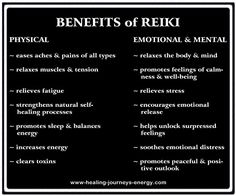 BEST thing I've ever done for my health!!! Benefits of Reiki, repinned by http://Reiki-Master-Training.com