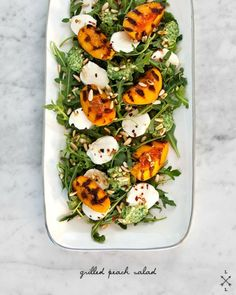 grilled peach salad. Add grilled avocado
