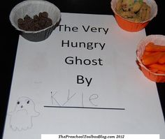 The Very Hungry Ghost Printable Booklet for #Preschool and #Kindergarten