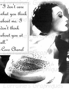 Chanel Quote and  Vintage Fashion Altered Fine Art Photographic Print