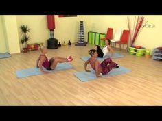 Trénink břicho, zadek, nohy - 10 minut - YouTube