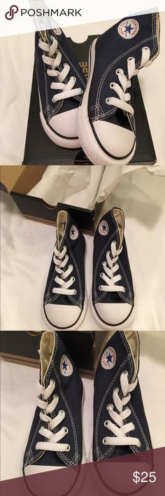 NWT toddler Converse navy sneakers brand new-still in box❥adorable toddler look! Converse Shoes Sneakers
