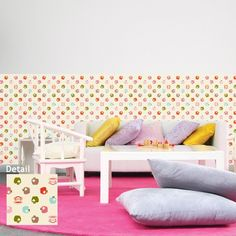 Looking for a cute wallpaper for nursery or kids room? Paul Frank wallpaper decals are great decoration for kids' rooms. These colorful apples pattern wallpaper decals are sure to open your kids' imagination and to create a relaxing environment in their room or playrooms.$143.95