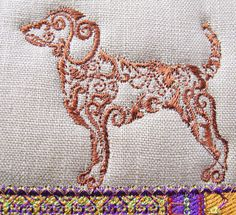 """Machine embroidery design from www.stitchingart.com the design set is called """"DOGS"""""""