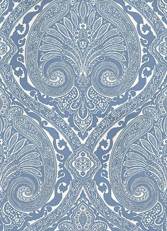 Khitan Blue wallpaper by Nina Campbell