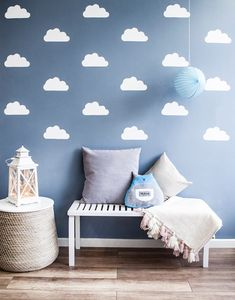 20 Latest Trend of Cute Baby Boy Room Ideas - Home Decor Ideas Baby Room Art, Baby Bedroom, Baby Boy Rooms, Baby Room Decor, Kids Bedroom, Kids Rooms, Baby Room Design, Wall Design, Cloud Decoration