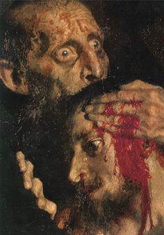 Wow, this is so akin to Goya's Titan eating his son. Ivan the Terrible and his Son Ivan, 1885. Ilya Repin.  Art Experience NYC  www.artexperiencenyc.com