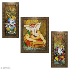 Checkout this latest Gifts Product Name: *Lord Ganesha Wall Painting Frame (Set Of 3)* Country of Origin: India Easy Returns Available In Case Of Any Issue   Catalog Rating: ★4 (335)  Catalog Name: Classy Spiritual Wall Paintings Vol 18 CatalogID_107706 C128-SC1316 Code: 892-916323-756