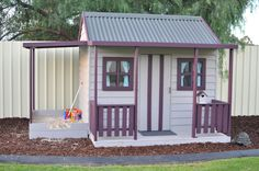 Our beautiful Cubby House with sandpit built by design a shed and cubbies