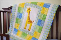 (7) Name: 'Quilting : Giraffe Baby Quilt