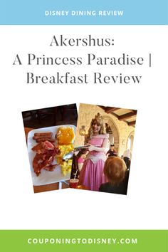 Akershus: A Princess Paradise | Breakfast Review Dining At Disney World, Disney World Food, Disney World Restaurants, Disney Dining Plan, Disney World Planning, Walt Disney World Vacations, Cruise Vacation, Disney Cruise, Disney World Characters