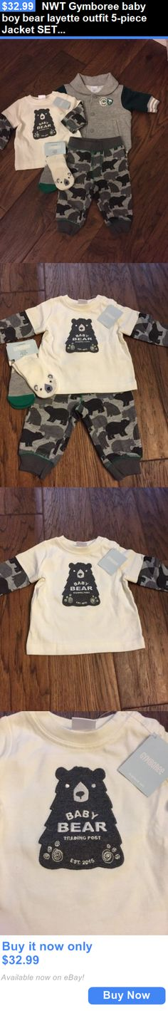 Baby Boys Clothing And Accessories: Nwt Gymboree Baby Boy Bear Layette Outfit 5-Piece Jacket Set Socks 0 3 Months BUY IT NOW ONLY: $32.99
