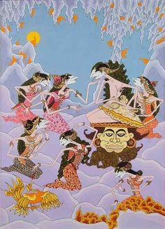 Indonesian Art, Shadow Puppets, Pattern Wallpaper, Illustrators, Illustration Art, Doodles, Wall Decor, Culture, Graphic Design