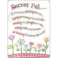 """Secret Pal"" Prayer Card 701551540000FF!"