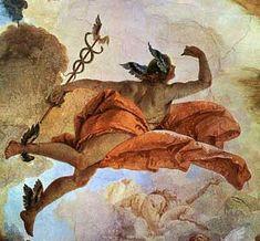 Hermes, al que los romanos llamaron Mercurio, es el mensajero de los dioses. Es también dios de los comerciantes y los viajeros y el encargado de llevar las almas de los muertos al Hades. Era hijo de Zeus y la ninfa Maya.