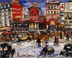 """@AlessandroForn6: Lucien #GENIN, ""LE MOULIN ROUGE"" #art #artwit #twitart #artist #iloveart #painting #followart """