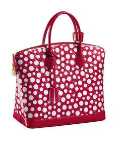 I just love the polka dots!    Lockit Monogram Vernis from the new Louis Vuitton Yayoi Kusama Collection. © Louis Vuitton