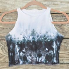 Black Tie Dye Ombre Crop Top : Bohemian Boho Ombre by RoyalDyeness