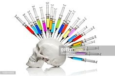 Stock Photo : Medical Punk - Skull Ink Horror Medicine Syringe Bizarre Humor