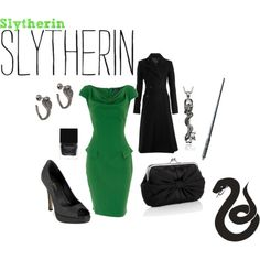 Would totally wear this even tho it's Slytherin. Cuz ya know, GREEN!!!