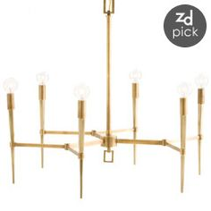 """The Noir Lex chandelier shines contemporary charisma upon the mod interior. A bold, avant garde shape, the metal light fixture presents an impressive industrial statement. 39""""W x 37.5""""D x 17.5""""H ; Accepts 60W max bulbs (not included); Canopy, chain, and cord included; Chain: 6'L; Cord: 8'L"""