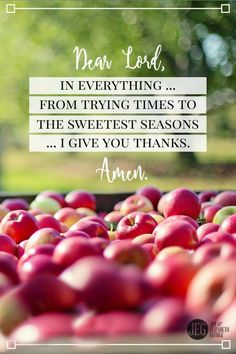 "When I thank You, God, even for the hard things in life, I'm saying, ""Lord, I am confident You will use this for my good."" Amen.   ""Give thanks in all circumstances."" (1 Thess. 5:18)"