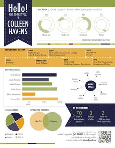 25 Best Infographic Resume Examples Images Infographic