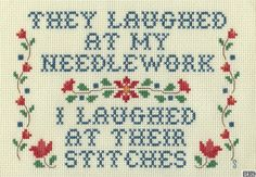 Stitches  I do have are a very particular set of skills; skills I have acquired over a very long career.