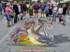 Lake Worth Street Painting Festival 2012 - 3D chalk art by AmazingStreetPainting.com #3dchalkart #streetpainting #sidewalkchalk