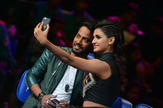 Shakti and Dharmesh taking a selfie on the sets of Dance Plus See more candid shots of Shakti Mohan on www.nrityashakti.com