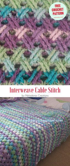 Interweave Cable Stitch [Left and Right Handed] - #crochet #stitch #freepattern