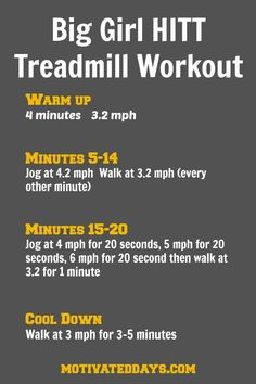 BG HITT Treadmill Workout 2 #HIIT #treadmill #fitness