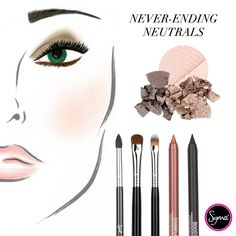 Neutrals never go out of style! Shop Sigma's collection of neutral-toned shadows and liners for basic, everyday looks! #sigmabeauty http://www.sigmabeauty.com/default.asp?click=246498_source=Pinterest_medium=Post_term=20130725_content=Homepage_campaign=repromo