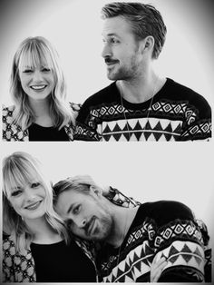 Emma Stone & Ryan Gosling {the two if them together is perfection} Serge Gainsbourg, Celebrity Gallery, Celebrity Crush, Celebrity Pics, Celeb Style, Style Men, Pretty People, Beautiful People, Amazing People