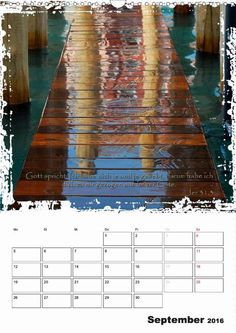 Kalender - Christliche Monatssprüche - September